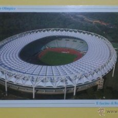 Coleccionismo deportivo: POSTAL ESTADIO OLIMPICO DE ROMA - VISTA AEREA. Lote 46832001