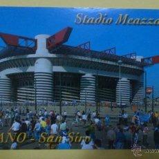 Coleccionismo deportivo: POSTAL ESTADIO SAN SIRO - GIUSEPPE MEAZZA - MILAN (ITALIA) - SIN CIRCULAR. Lote 46832023