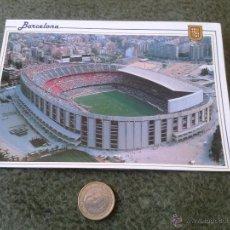 Coleccionismo deportivo: POSTAL CAMPO DE FUTBOL CAMP NOU BARCELONA VISTA AEREA 9 N/E N/C ESCUDO DE ORO FISA CEDOSA FCB CULE. Lote 47118752
