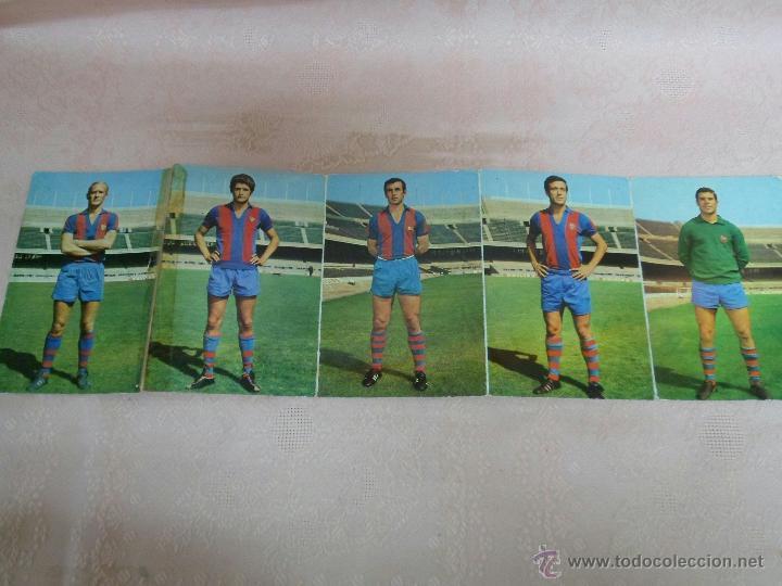 POSTALES F.C. BARCELONA TEMPORADA 1970-71 FOTO SEGUI 7 POSTALES (Coleccionismo Deportivo - Postales de Deportes - Fútbol)
