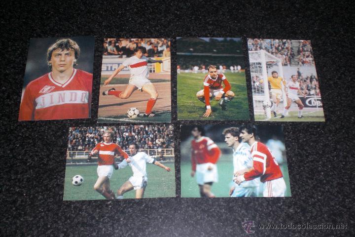 LOTE 6 POSTALES ORIGINALES SPARTAK MOSCÚ (URSS) (Coleccionismo Deportivo - Postales de Deportes - Fútbol)