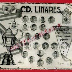 Coleccionismo deportivo: LOTE DE 15 FOTOS, FOTOGRAFIAS DE FUTBOL , C.D. LINARES , TEMPORADA 1953-54 , ORIGINALES. Lote 49232649