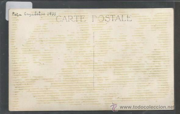 Coleccionismo deportivo: POSTAL EQUIPO FUTBOL - PEÑA CANALETAS 1933 - (CD-1529) - Foto 2 - 49304948