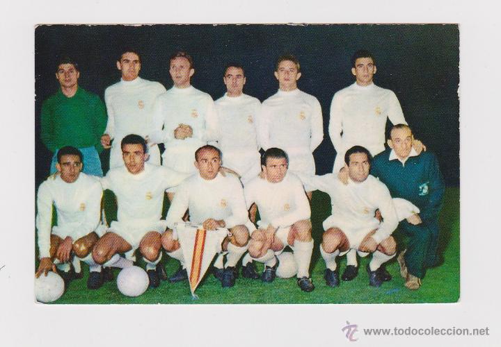 POSTAL ORIGINAL DE EPOCA (AÑOS 60) - REAL MADRID PENTACAMPEON COPA EUROPA CON DI STEFANO - (Coleccionismo Deportivo - Postales de Deportes - Fútbol)