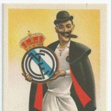Coleccionismo deportivo: POSTAL CARICATURA EQUIPOS DE FUTBOL *REAL MADRID* - ILUSTRA RUIZ - ED. JUFRAN. Lote 50194176