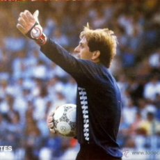 Coleccionismo deportivo: POSTAL PUBLICIDAD GLOVES GOALKEEPER FOOTBALL UHLSPORT CERVANTES REAL BETIS. Lote 50532224
