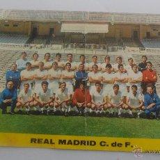 Coleccionismo deportivo: TARJETA POSTAL REAL MADRID PLANTILLA TEMPORADA 72-73 TAMAÑO 14,6CM X 20,08CM. Lote 51357670