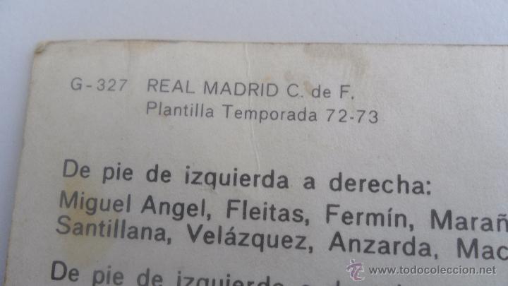 Coleccionismo deportivo: tarjeta postal real madrid plantilla temporada 72-73 tamaño 14,6cm x 20,08cm - Foto 5 - 51357670