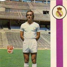 Coleccionismo deportivo: POSTAL JUGADOR DE FUTBOL DEL REAL MADRID. BERGAS. FOTO RAUL CANCIO. JOSÉ FERMIN GUTIERREZ MARTIN.. Lote 51732829