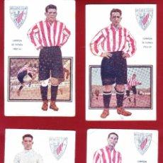 Coleccionismo deportivo: 7 POSTALES BILBAO JUGADORES DE FOOT-BALL EDICIONES AMATLLER.. Lote 51926258