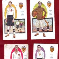 Coleccionismo deportivo: 10 POSTALES VALENCIA JUGADORES DE FOOT-BALL EDICIONES AMATLLER.. Lote 51926381