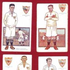 Coleccionismo deportivo: 7 POSTALES SEVILLA JUGADORES DE FOOT-BALL EDICIONES AMATLLER.. Lote 51926400
