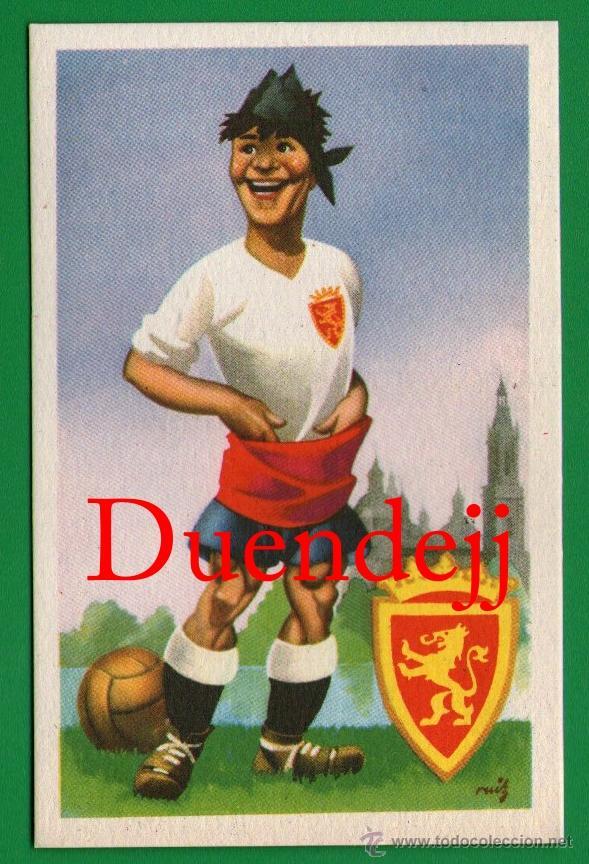 ANTIGUA TARJETA POSTAL: REAL ZARAGOZA CLUB DE FUTBOL - SIN CIRCULAR - LA QUE SE VE EN LAS IMÁGENES. (Coleccionismo Deportivo - Postales de Deportes - Fútbol)
