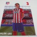 Coleccionismo deportivo: 3 FILIPE LUIS - POSTAL OFICIAL 15X21 CM. APROX. ATLETICO DE MADRID TEMPORADA 2015 2016 - NOVEDAD¡¡¡¡. Lote 160864720