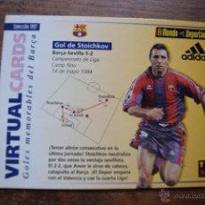 Coleccionismo deportivo: VISUAL CARDS, GOLES MEMORABLES DEL BARÇA, STOICHKOV. Lote 52976983