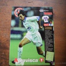 Coleccionismo deportivo: POSTAL DE AMAVISCA, REAL MADRID, DIARIO MARCA. Lote 52977124