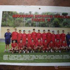Coleccionismo deportivo: POSRAL GRANDE DE LA ASOCIACION DEPORTIVA HURACAN, CADETE B (GRAN CANARIA). Lote 53041592