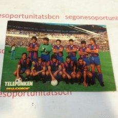 Coleccionismo deportivo: POSTAL F.C BARCELONA 1978 - TELEFUNKEN. Lote 53194271