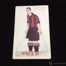 Coleccionismo deportivo: POSTAL CROMO 14 X 9 CENT AÑOS 20 JUGADOR GRACIA FUTBOL CLUB FC BARCELONA F.C BARÇA CF . Lote 53404594