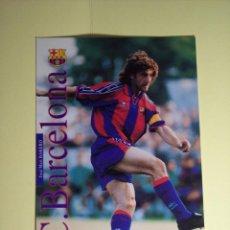 Coleccionismo deportivo: FOTO TIPO POSTA PUBLICIDAD KAPPA (JOSÉ MARI BAKERO (F.C. BARCELONA). Lote 53815699