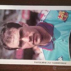 Coleccionismo deportivo: POSTAL FC BARCELONA ZUBI ZUBIZARRETA. Lote 54187528