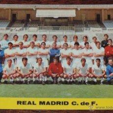 Coleccionismo deportivo: POSTAL PLANTILLA DEL REAL MADRID 1972 / 73, , SIN CIRCULAR. Lote 54499384