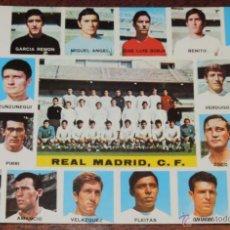 Coleccionismo deportivo: POSTAL GIGANTE PLANTILLA DEL REAL MADRID 1972 / 73, MIDE 21 X 14,5 CMS., SIN CIRCULAR. Lote 54499529