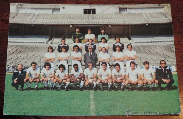 POSTAL GIGANTE PLANTILLA DEL REAL MADRID, TEMPORADA 1979 - 80, MIDE 21 X 14,5 CMS., SIN CIRCULAR (Coleccionismo Deportivo - Postales de Deportes - Fútbol)