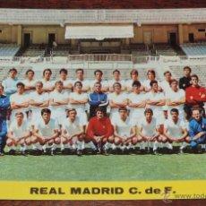 Coleccionismo deportivo: POSTAL GIGANTE PLANTILLA DEL REAL MADRID, TEMPORADA 1972 - 73, MIDE 21 X 14,5 CMS., SIN CIRCULAR. Lote 110423712