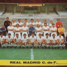 Coleccionismo deportivo: POSTAL GIGANTE PLANTILLA DEL REAL MADRID, TEMPORADA 1973 - 74, MIDE 21 X 14,5 CMS., SIN CIRCULAR. Lote 194256353