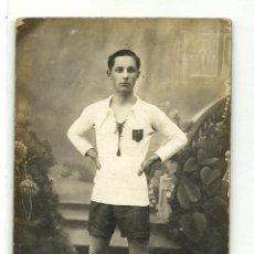 Coleccionismo deportivo: (F-1470)FOTOGRAFIA DE JUGADOR DE LA SELECCION CATALANA DE FOOT-BALL,AÑOS 20. Lote 54516336