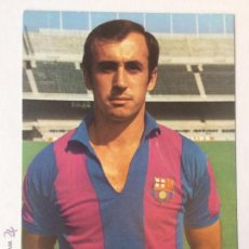 Coleccionismo deportivo: POSTAL JUAN CARLOS PEREZ LOPEZ , FC BARCELONA, PUBLICIDAD WILLIAMS, 1970'S, 10,5 X 15 CM.. Lote 101460623