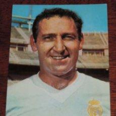 Collezionismo sportivo: ANTIGUA POSTAL DE GENTO, JUGADOR DEL REAL MADRID CLUB DE FUTBOL, ED. BERGAS, NO CIRCULADA.. Lote 54818257