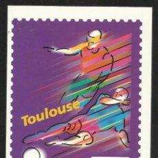 Coleccionismo deportivo: POSTAL CONMEMORATIVA DE LA COPA MUNDIAL DE FUTBOL FRANCIA 98- SEDES- TOULUSE - FIFA. Lote 54874549