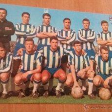 Coleccionismo deportivo: POSTAL C.D MALAGA G-125 BERGAS 1967 FUTBOL. Lote 55063994
