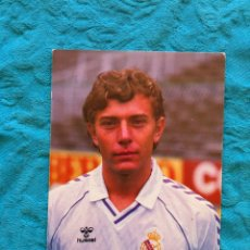 Coleccionismo deportivo: POSTAL BUTRAGUEÑO 1985 REAL MADRID. Lote 55104243