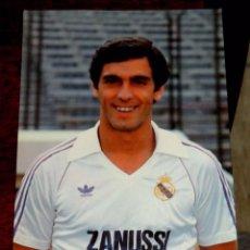 Coleccionismo deportivo: ANTIGUA FOTO POSTAL DEL JUGADOR PINEDA, REAL MADRID C. DE FUTBOL, FOTO RAUL CANCIO, ED. BERGAS, AÑOS. Lote 56080295