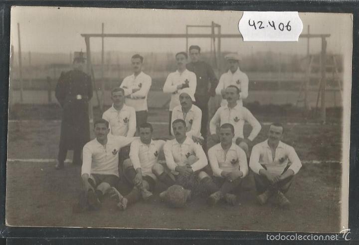 VIC - VICH POSTAL FOTOGRAFICA EQUIPO U.D. VICH- U.E. VIC - AÑO 1918 - (42.406) (Coleccionismo Deportivo - Postales de Deportes - Fútbol)