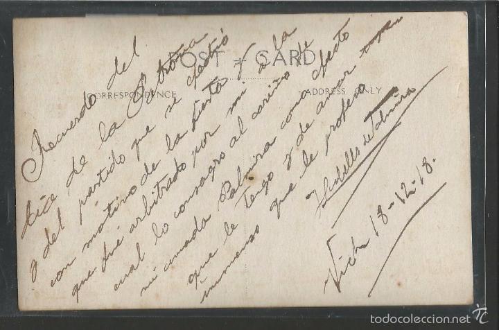 Coleccionismo deportivo: VIC - VICH POSTAL FOTOGRAFICA EQUIPO U.D. VICH- U.E. VIC - AÑO 1918 - (42.406) - Foto 2 - 56125137