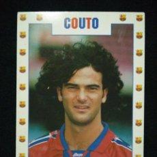 Coleccionismo deportivo: POSTAL AÑOS 90 FUTBOL CLUB FC BARCELONA F.C BARÇA CF JUGADOR COUTO. Lote 56391001