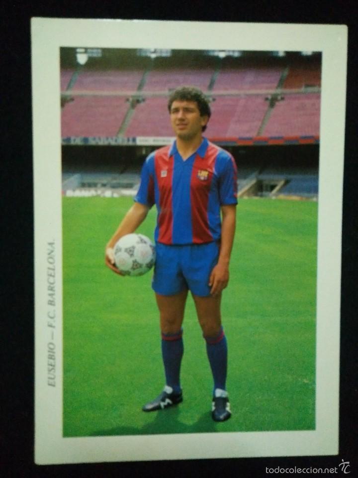 POSTAL AÑOS 90 FUTBOL CLUB FC BARCELONA F.C BARÇA CF JUGADOR EUSEBIO (Coleccionismo Deportivo - Postales de Deportes - Fútbol)