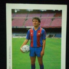 Coleccionismo deportivo: POSTAL AÑOS 90 FUTBOL CLUB FC BARCELONA F.C BARÇA CF JUGADOR EUSEBIO. Lote 56391396