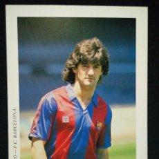 Coleccionismo deportivo: POSTAL AÑOS 90 FUTBOL CLUB FC BARCELONA F.C BARÇA CF JUGADOR BAKERO. Lote 56391438