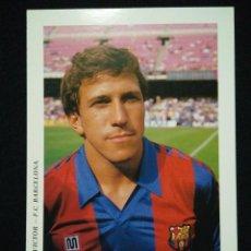 Coleccionismo deportivo: POSTAL AÑOS 90 FUTBOL CLUB FC BARCELONA F.C BARÇA CF JUGADOR VICTOR. Lote 56391642