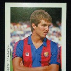 Coleccionismo deportivo: POSTAL AÑOS 90 FUTBOL CLUB FC BARCELONA F.C BARÇA CF JUGADOR ROBERTO. Lote 56391799