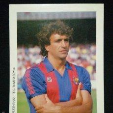 Coleccionismo deportivo: POSTAL AÑOS 90 FUTBOL CLUB FC BARCELONA F.C BARÇA CF JUGADOR ALESANCO. Lote 56391826