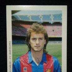 Coleccionismo deportivo: POSTAL AÑOS 90 FUTBOL CLUB FC BARCELONA F.C BARÇA CF JUAN CARLOS. Lote 56392036