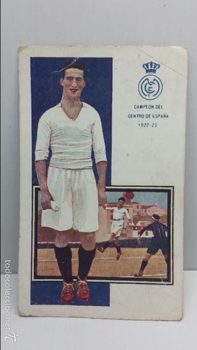 POSTAL FUTBOL JUGADORES DE FOOT-BALL CHOCOLATES AMATLLER-MONJARDIN SERIE D Nº 9 (Coleccionismo Deportivo - Postales de Deportes - Fútbol)