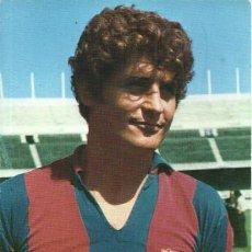 Coleccionismo deportivo: POSTAL FUTBOLISTA NARCISO MARTI FILOSIA - DELANTERO DEL F. C. BARCELONA - PUBLICIDAD DE WILLIAMS. Lote 56499146