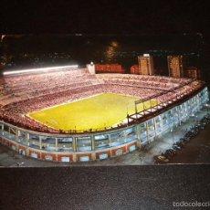 Coleccionismo deportivo: POSTAL - ASPECTO NOCTURNO DEL ESTADIO BERNABEU / Nº 59 / GARCIA GARRABELLA / 1963. Lote 56913011